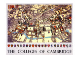 The Colleges of Cambridge Giclee Print by Fred Taylor