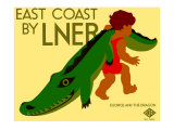 East Coast by LNER Giclee Print by Tom Purvis