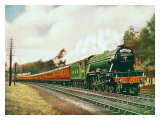 Royal Lancer LNER 4-6-2 steam locomotive, circa 1930 Giclee Print by F Moore
