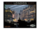 Piccadilly Circus, LNER poster, 1923-1947 Giclee Print by Fred Taylor