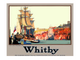 Whitby: Captain Cook Embarking Giclee Print by Fred Taylor