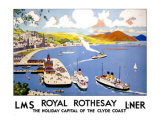 Royal Rothesay, the Holiday Capital of the Clyde Giclee Print by Cecil King
