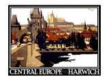 Central Europe via Harwich Giclee Print by Frank Newbould