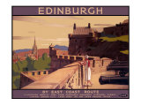 Edinburgh by the East Coast Route Giclee Print by A Van Anrooy