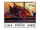 Shipbuilding on the Clyde Giclee Print by Norman Wilkinson