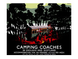 Camping Coaches Giclee Print by Tom Purvis