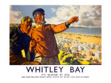 Whitley Bay Giclee Print by Arthur C Michael