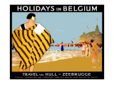 Holidays in Belgium Giclee Print