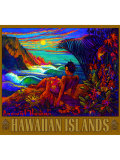 Hawaii Napali Kauai Coast Surf Poster Giclee Print by Rick Sharp
