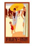 Filey for the Family Giclee Print by Reginald Edward Higgins
