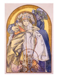 Mucha Nouveau Theater Poster Giclee Print by Alphonse Mucha