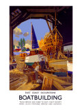 Boatbuilding Giclee Print by Frank Mason