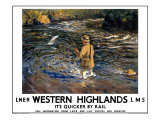 Western Highlands Giclee Print by Arthur James Wether Burgess