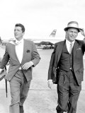 Frank Sinatra at London Airport Fotografisk tryk
