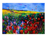Field Flowers Giclee Print by Pol Ledent