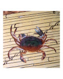 Asian Crab on Bamboo Giclee Print by Edo School Painters