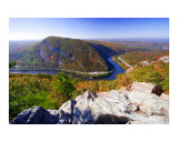 Autumn Vista of the Delaware Water Gap Photographic Print by George Oze