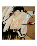 Three Japanese Cranes Giclee Print by Edo School Painters