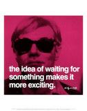 Warten Poster von Andy Warhol