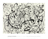 Jackson Pollock - slo 14 (ed) (No. 14 (Gray)) Obrazy