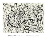 Número 14, Gris Posters por Jackson Pollock