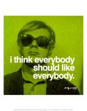 Tout le monde, en anglais Affiches par Andy Warhol