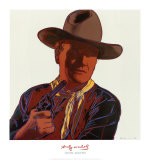 Cowboys and Indians: John Wayne 201/250, 1986 Poster van Andy Warhol