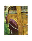 Purple Fenders Print by Norm Daniels