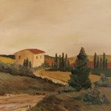 Sunny Tuscan Fields Print by J. Clark