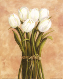 White Tulips in String Kunstdrucke von Cuca Garcia
