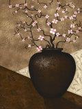 Cherry Blossom in Vase Poster par Jo Parry