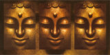 Buddha in Three Lights Prints
