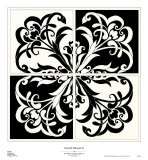 Damask Silhoute II Prints by Judy Shelby