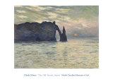 Acantilado, Etretat, atardecer, 1883 Pósters por Claude Monet