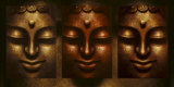 Buddha in Three Lights Posters