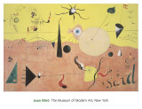 Joan Miro - The Hunter (Catalan Landscape) Wall Poster