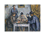 The Card Players, 1890-1892 Prints by Paul Cézanne
