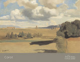 The Roman Campagna with the Claudian Aqueduct, c.1826 Prints by Jean-Baptiste-Camille Corot