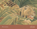 Tiger in a Tropical Storm (Surprised!), 1891 (detail) Plakater af Henri Rousseau