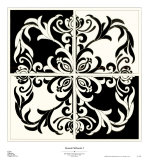 Damask Silhoute I Prints by Judy Shelby