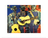 Three Folk Musicians, 1967 Posters by Romare Bearden