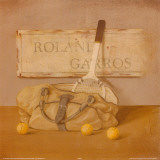 Roland Garros Tennis Bag Prints by Lucciano Simone