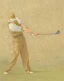Golfer V Print by Jose Gomez
