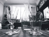 Glasses and Decanter Prints by Francisco Fernandez