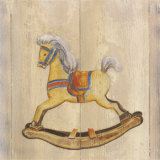 Rocking Horse with Orange Saddle Posters by Catherine Becquer