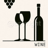 Wine Print by Ute Nuhn