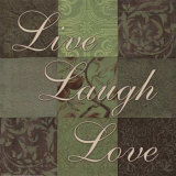 Live, Laugh, Love Print by Smith-Haynes