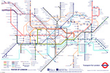 London Underground Map Posters
