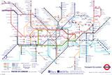 Mapa do metrô de Londres Fotografia