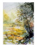 Watercolor Giclee Print by Pol Ledent